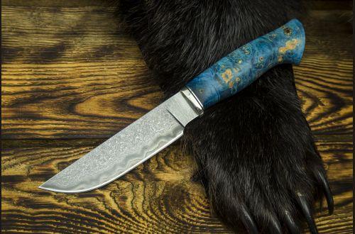 Нож Походный <span>(Авторский ламинат GD13, стабилизированный клён, мозаичный пин под темляк)</span>