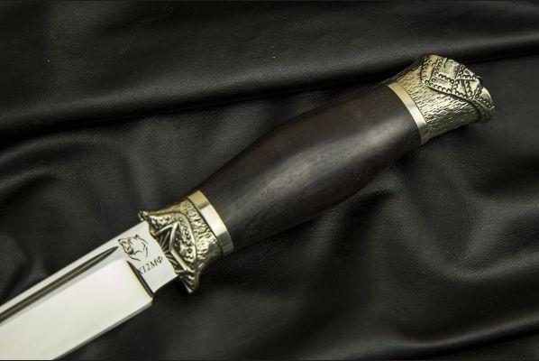 Авторская Финка НКВД 4 мм <span>(х12мф, чёрный граб, авторское литьё мельхиор)</span>
