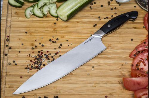 Нож Шеф <span>(нержавеющий ламинат, цельнометаллический, g10)</span>