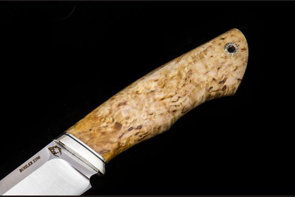 Нож Русский <span>(S390, стабилизированная карельская берёза, мозаичный пин под темляк)</span>