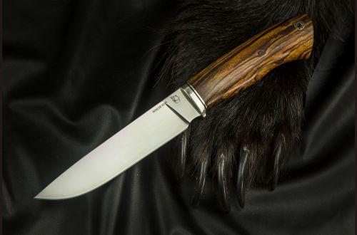 Нож Лиса <span>(M390, айронвуд, мозаичный пин)</span>