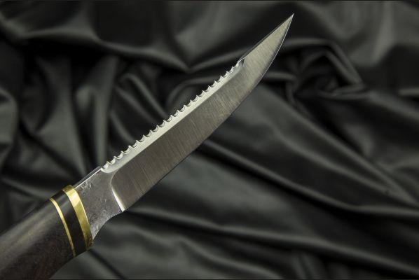 Нож Рыбак <span>(х12мф, чёрный граб)</span>