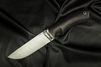 Нож Боровик - Premium <span><span>(Х12МФ, чёрный граб, мозаичный пин под темляк)</span></span>