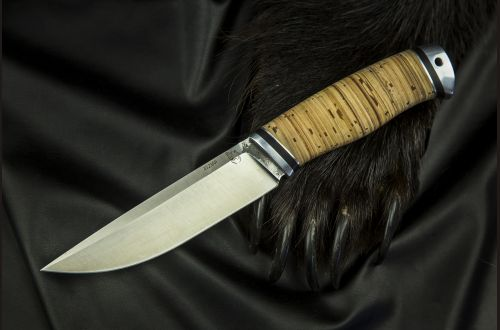 Нож Русский 2 <span>(х12мф, береста, дюраль)</span>