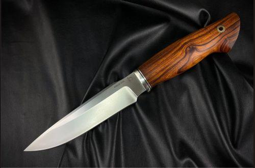 Нож Ворон <span>(M390, айронвуд, мозаичный пин под темляк)</span>