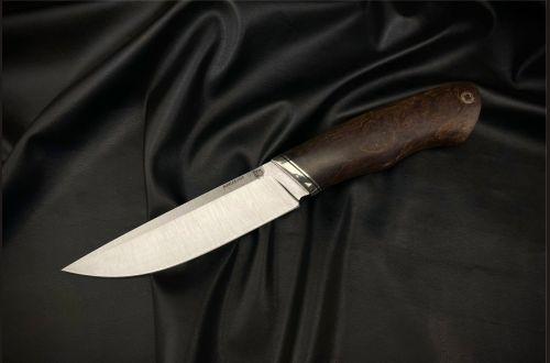 Нож Русский 2 <span>(S390, стабилизированная карельская берёза, мозаичный пин под темляк)</span>